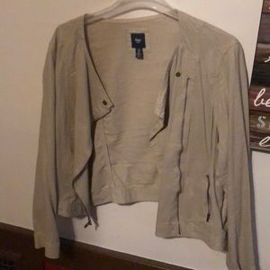 Tan shimmer Gap lightweight jacket